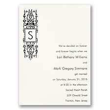 Chandelier Monogram Wedding Invitation