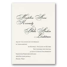 Ecru Wedding Invitation Card