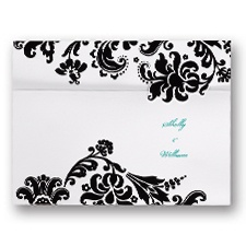 Damask Edges Wedding Invitation