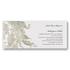 Golden Leaves Wedding Invitation
