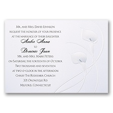 Lovely Lilies Wedding Invitation