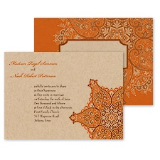 Paisley Star Wedding Invitation - Poppy