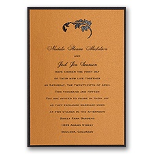Copper Shimmer Layered Wedding Invitation