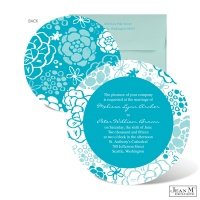Rustic Flowers Wedding Invitation - Palm