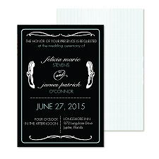 Typography Accents Wedding Invitation