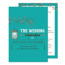 Jar Lantern Wedding Program