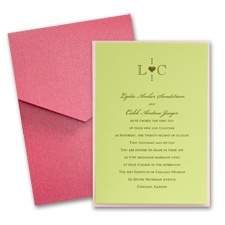 Margarita Layered Wedding Invitation with Pocket