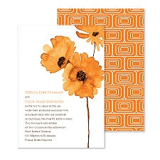 Flower Style Wedding Invitation - Poppy