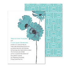 Flower Style Wedding Invitation - Peacock