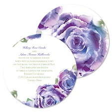 Rosy Watercolors Wedding Invitation - Orchid