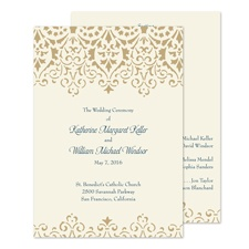 Ornate Vintage Wedding Program
