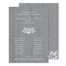 Woodland Flowers Wedding Program - Pewter
