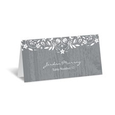 Woodland Flowers Place Card - Pewter