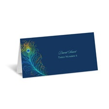 Peacock Feather Place Card