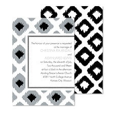 Ikat Diamonds Wedding Invitation - Black
