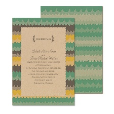 Ikat Stripes Wedding Invitation