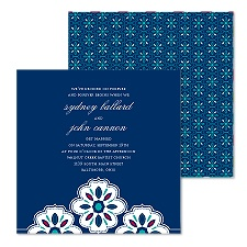 Petal Pattern Wedding Invitation