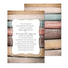 Wooden Colors Wedding Invitation