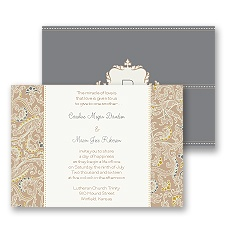 Sophisticated Paisley Wedding Invitation