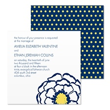 Posy Dots Wedding Invitation - Eclipse
