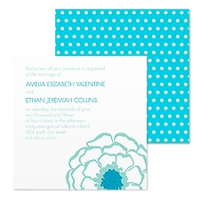 Posy Dots Wedding Invitation - Palm