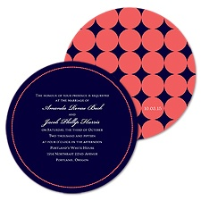 All Dotted Wedding Invitation