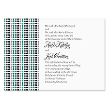 Dotted Stripes Wedding Invitation - Stainless