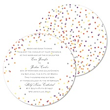 Dotting Around Wedding Invitation