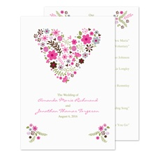 Floral Heart Wedding Program