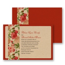 Vintage Florals Wedding Invitation