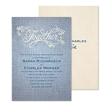 Denim Together Wedding Invitation