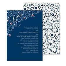 Flourishing Love Wedding Invitation