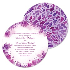Watercolor Petals Wedding Invitation
