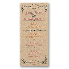 Classic Type Wedding Invitation - Kraft Paper