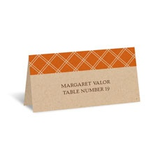 Orange Squares Place Card