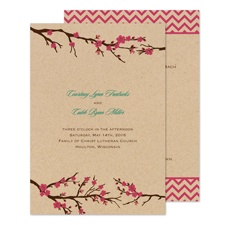 Cherry Blossoms Wedding Program