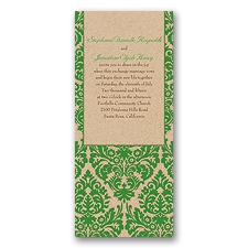 Rustic Damask Wedding Invitation