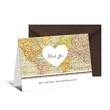 Heart Map Note Card and Envelope