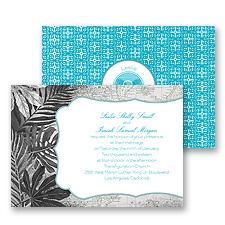 Tropical Destination Wedding Invitation