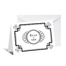 Art Deco Note Card and Envelope