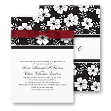 Bold Floral Wedding Invitation