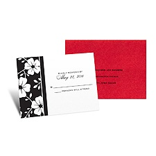 Bold Floral Response Card and Envelope