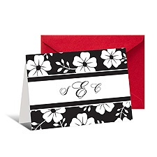Bold Floral Note Card and Envelope