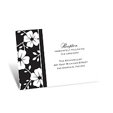 Bold Floral Reception Card