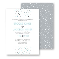 Pretty Dots Wedding Invitation