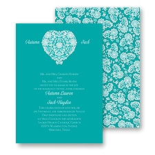 Lace Heart Wedding Invitation