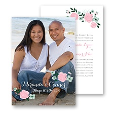 All Rosy Photo Wedding Invitation