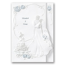Romantic Couple Wedding Invitation