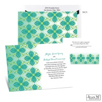 Emerald Mosaic Wedding Invitation