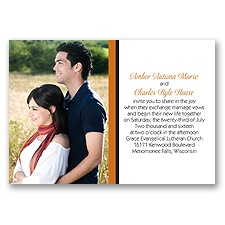 Bold Double Border Photo Wedding Invitation